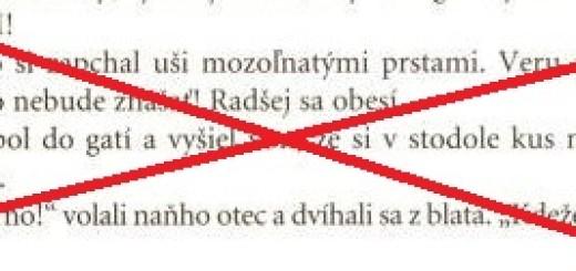 Sekerou a nožom_vystrihnuty text_preskrtn